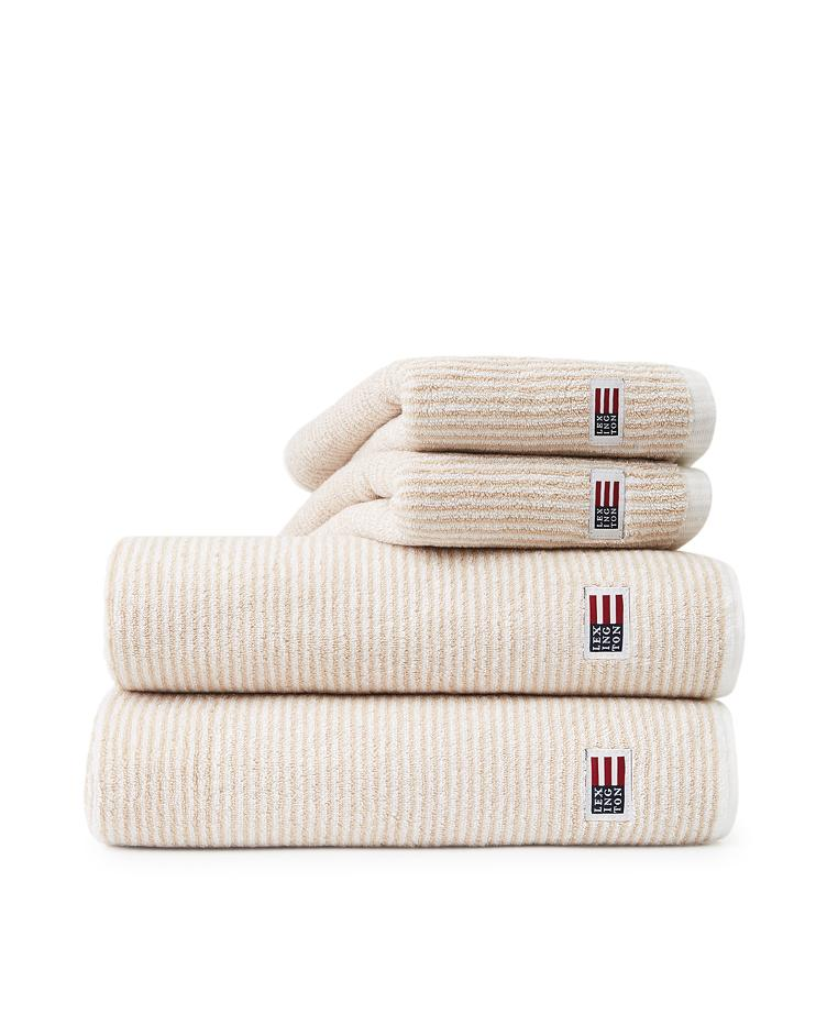 Original Towel White/Tan Striped 100x150