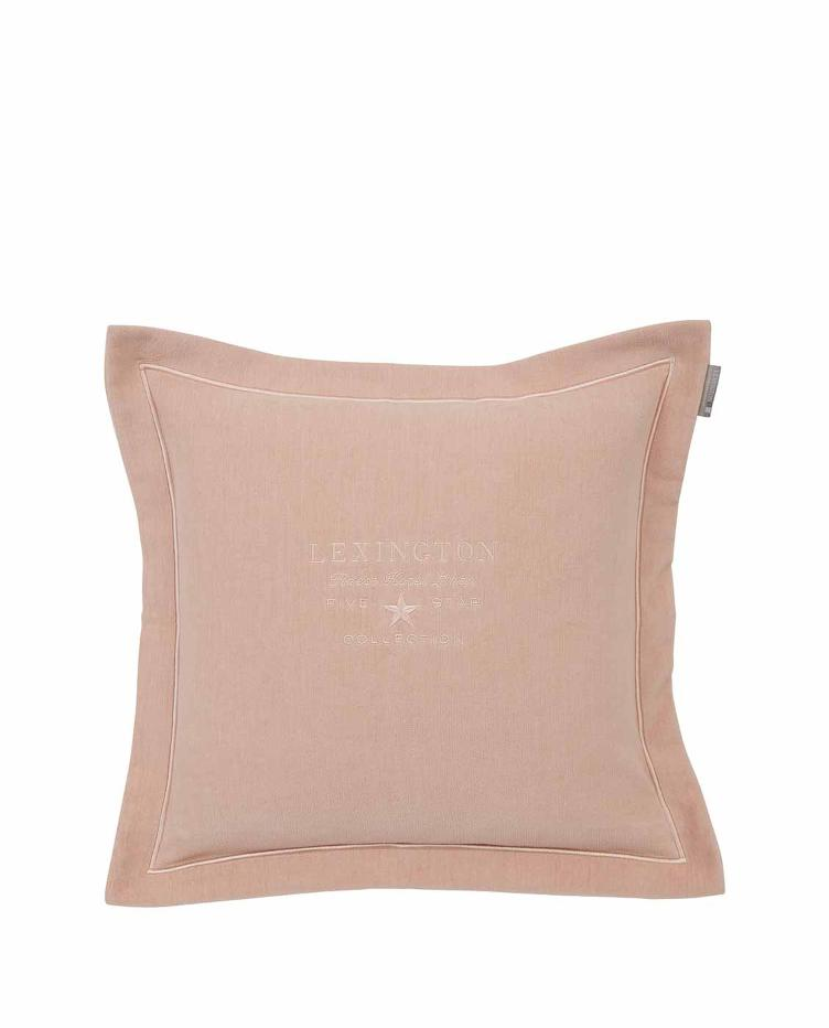 Hotel Velvet Sham with Embroid, pink 50x50