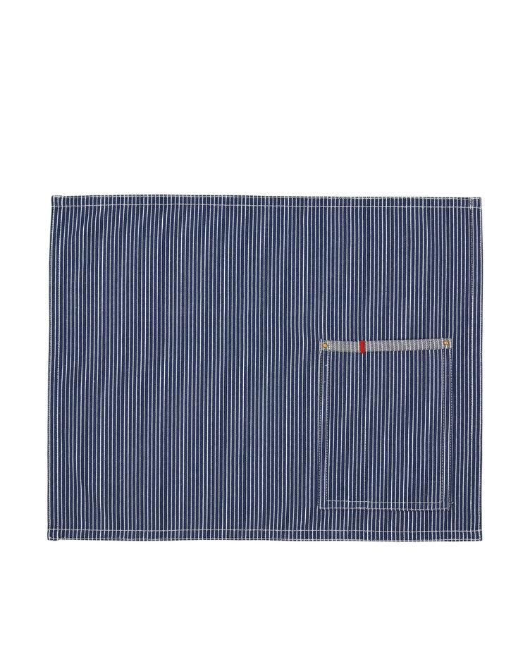Striped Cotton Denim Placemat, blue/white 40x50