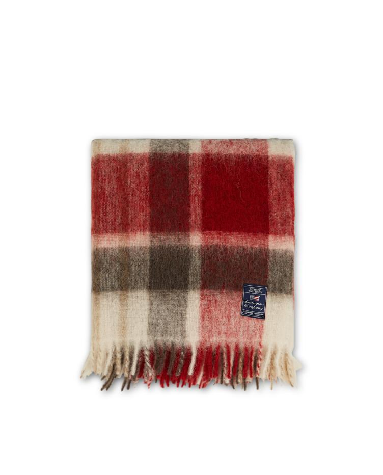 Checked Mohair Mix Throw 130x170