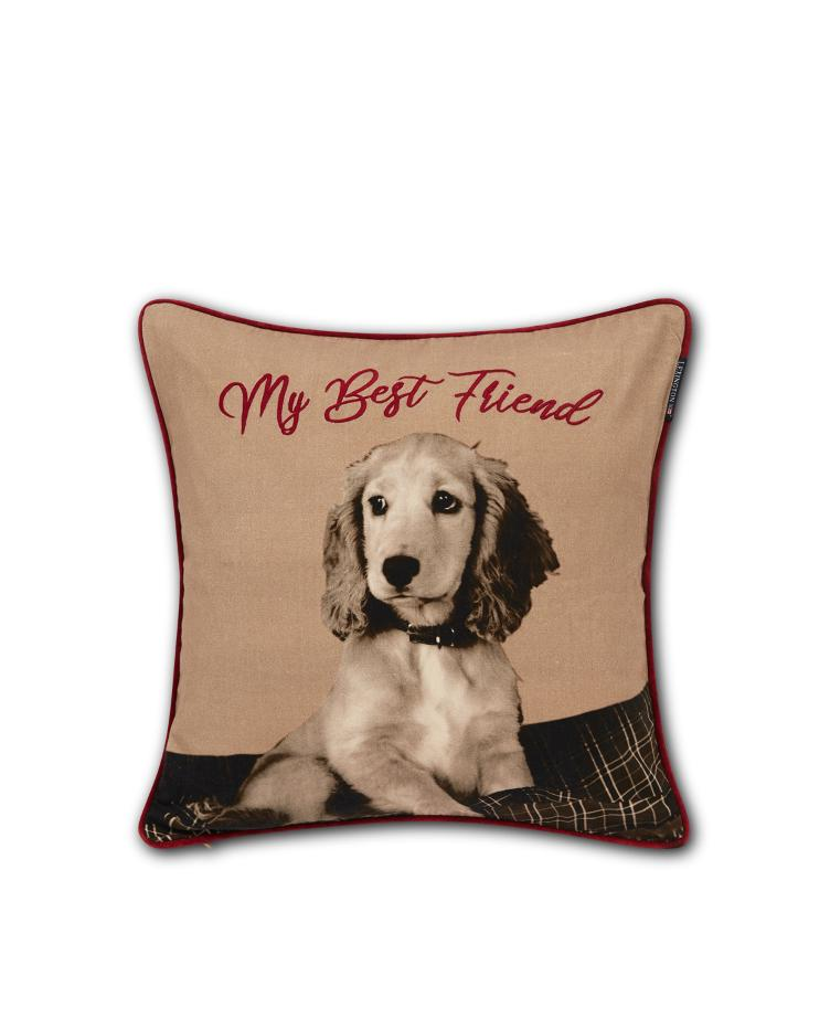 Best Friend Printed Cotton Twill Pillow Cover 50x50
