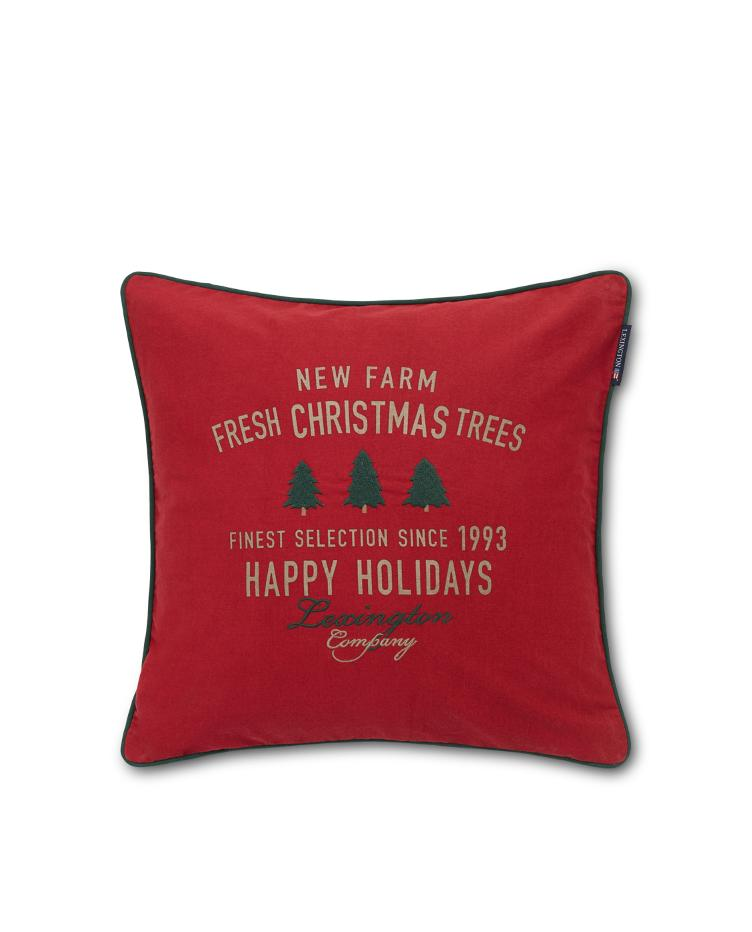 Farm Christmas trees Cotton Twill Pillow Cover 50x50