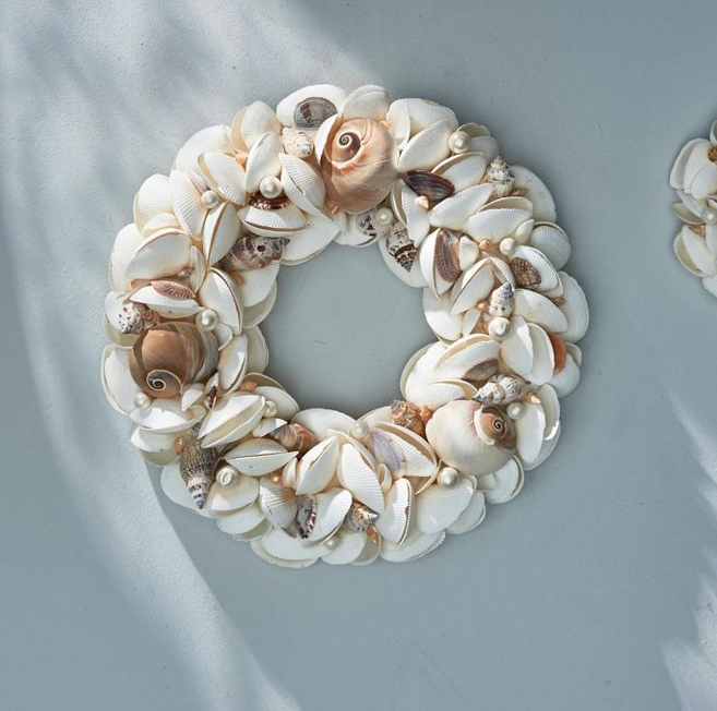 Les Planches Seashell Wreath Dia 33