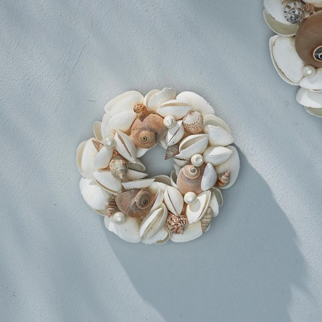 Les Planches Seashell Wreath Dia 15