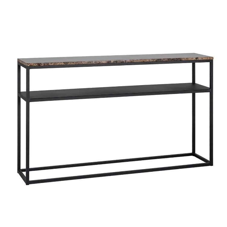 Console table Orion with brown marble