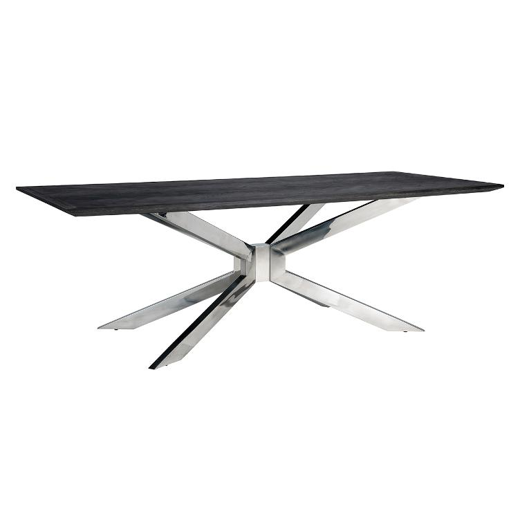Dining table Blackbone Matrix silver 240x100