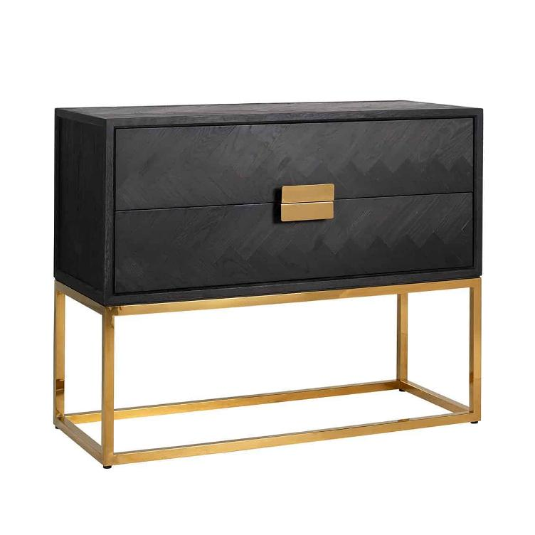 Chest of drawers Blackbone gold with 2-drawers