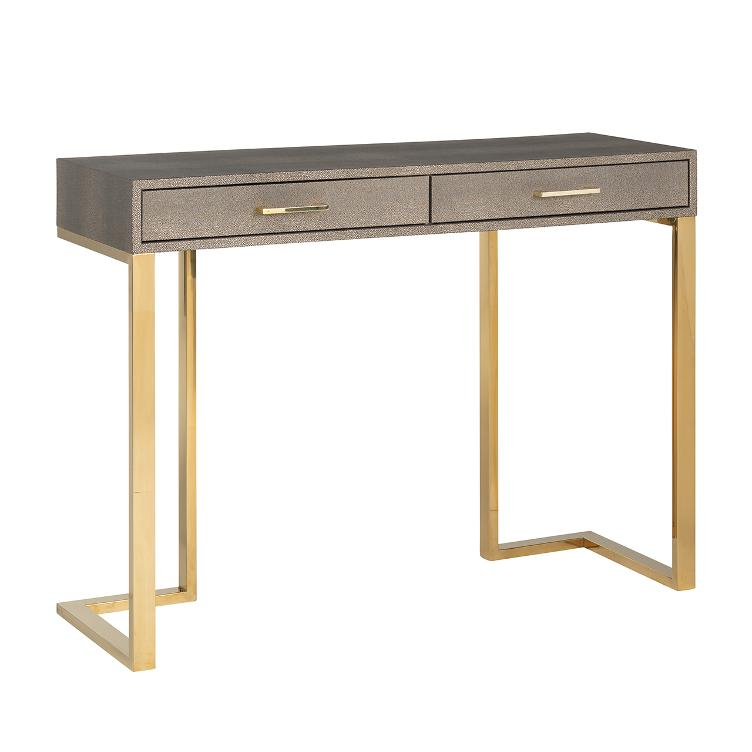 Side table Calesta 2 drawers shagreen look
