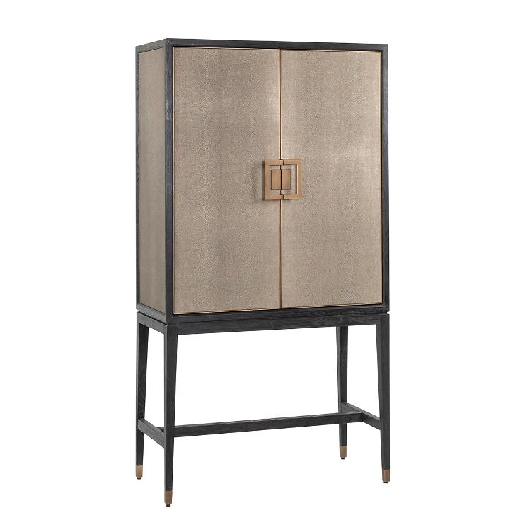 Bar Cabinet Bloomingville with 2-doors shagreen