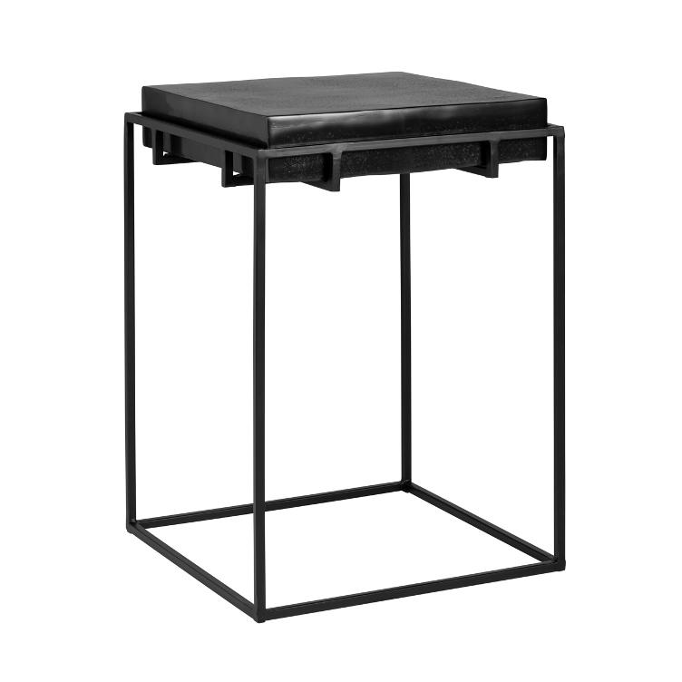 Corner table Bolder aluminium black