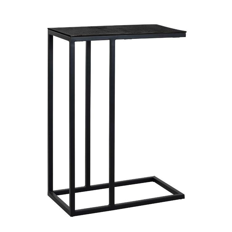 Sofa table Bolder aluminium black