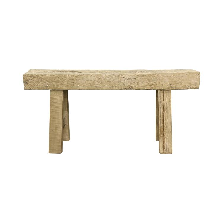 White Wash Bench Wide 100-130cm