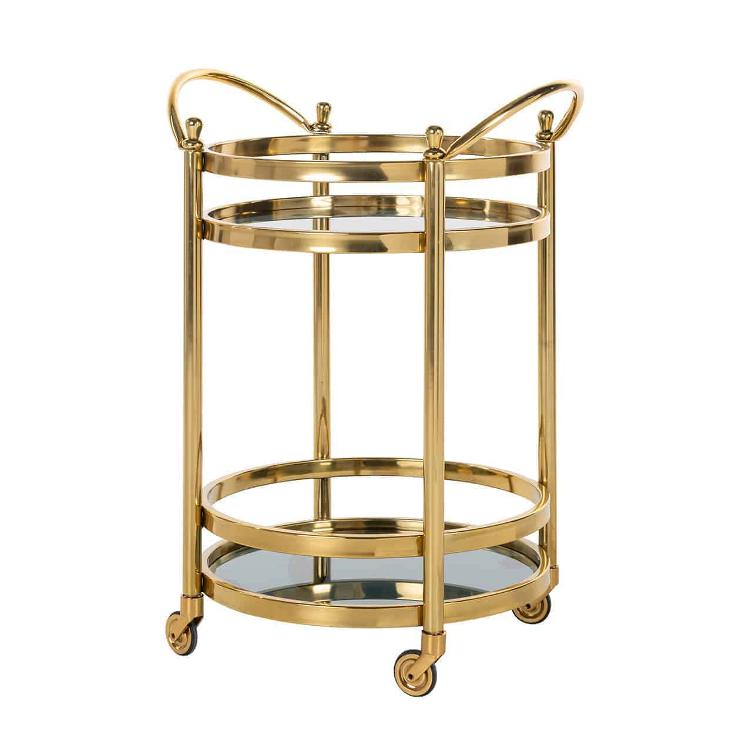 Trolley Hendricks round gold with glass