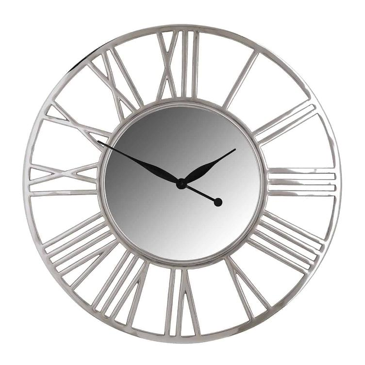 Clock Danell round silver