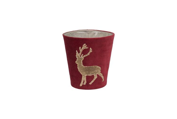 Candle Covers, Funky Deer 150, red